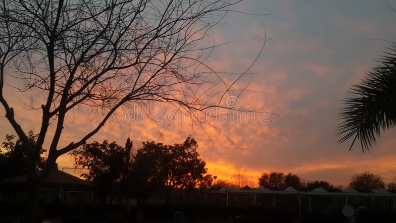 вечер Исламабад Пакистан стоковые фото