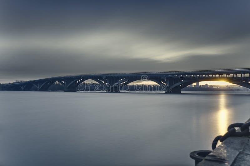 Вечер Киев Украина стоковые фотографии rf