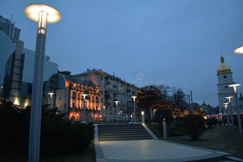 Вечер Киев стоковые изображения