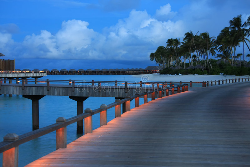 вечер Мальдивы стоковое изображение