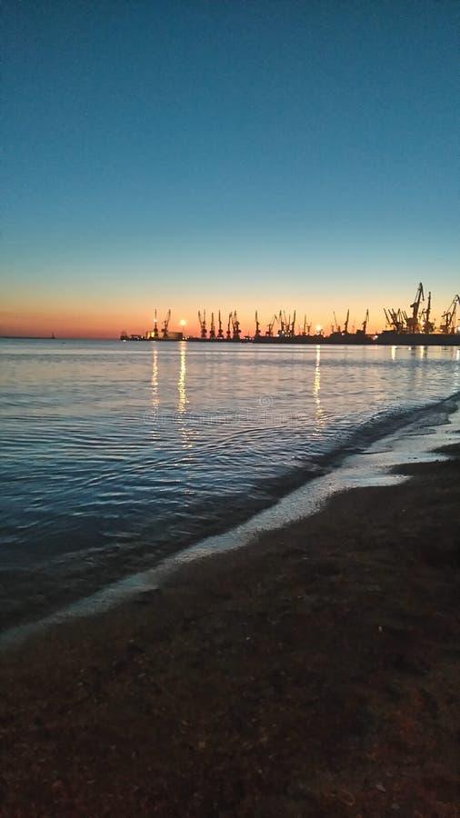 Вечер на взморье стоковое изображение