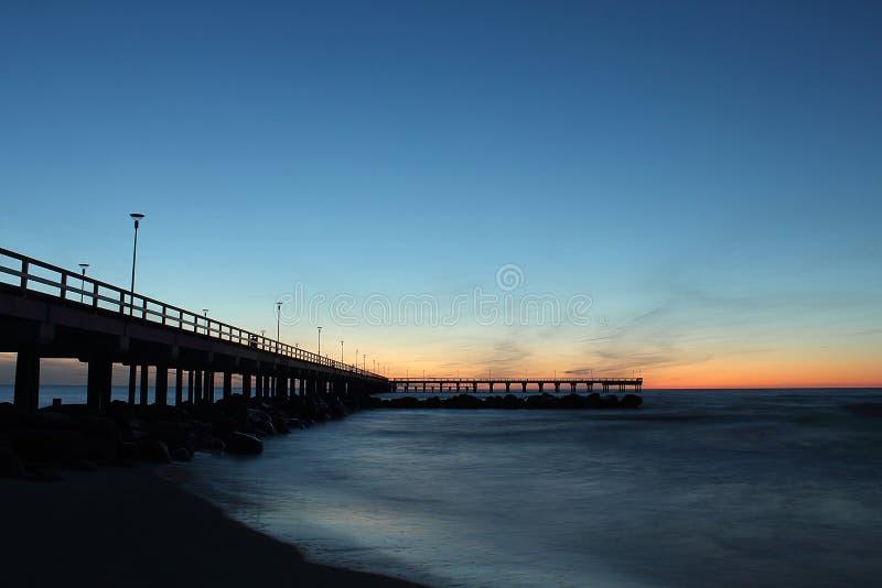 Вечер на море стоковая фотография