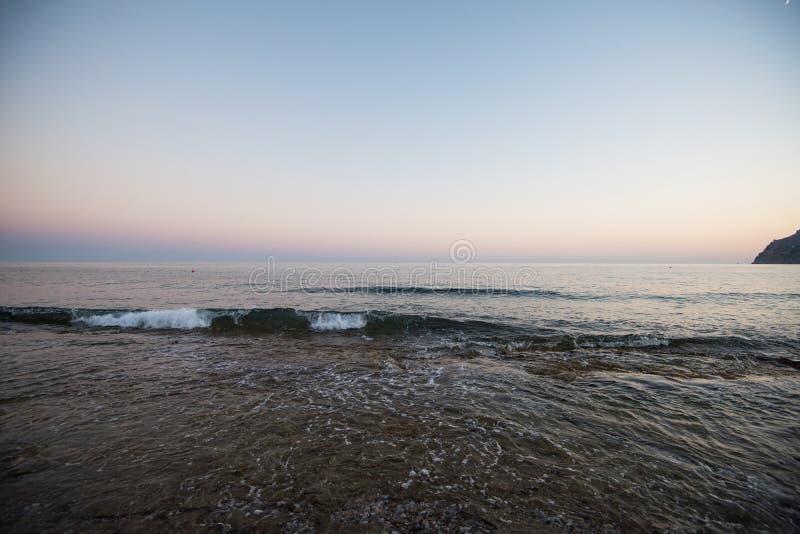 Вечер на побережье Alanya стоковые фото