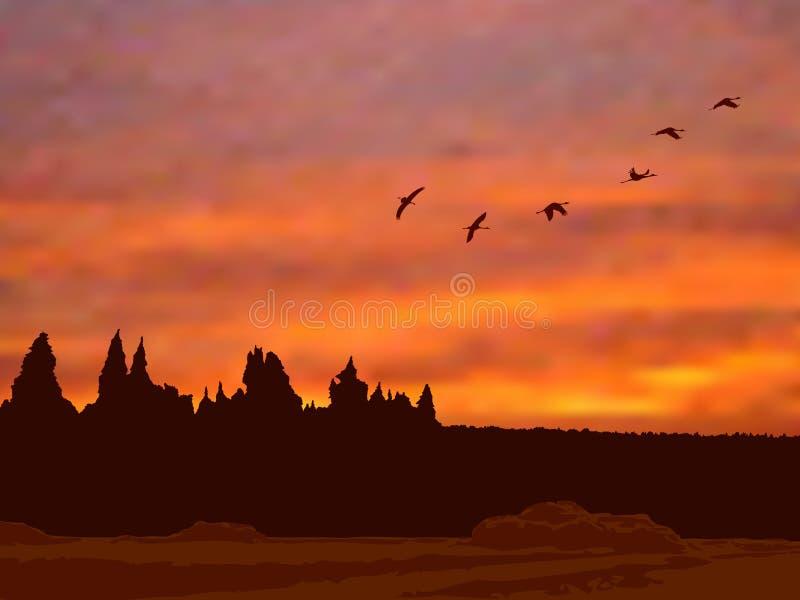 вечер осени бесплатная иллюстрация
