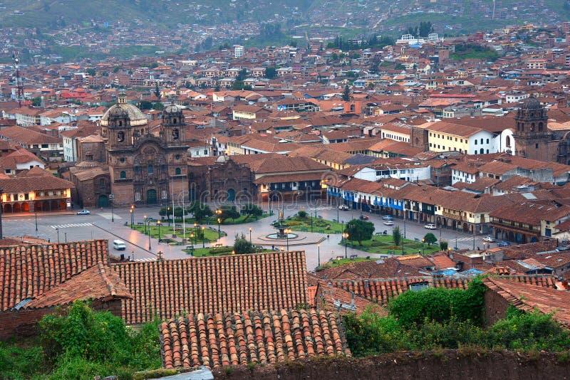 Вечер Cuzco стоковая фотография rf