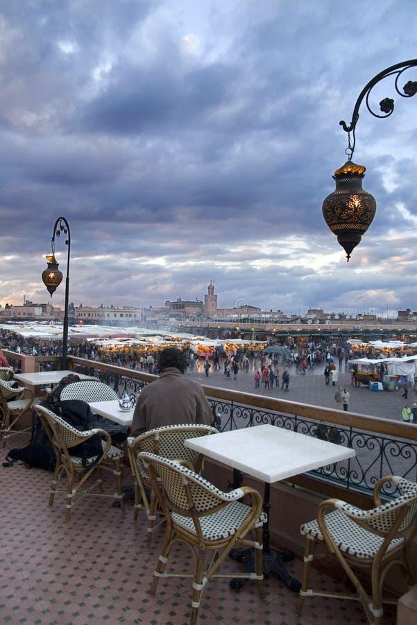 вечер marrakesh стоковые изображения