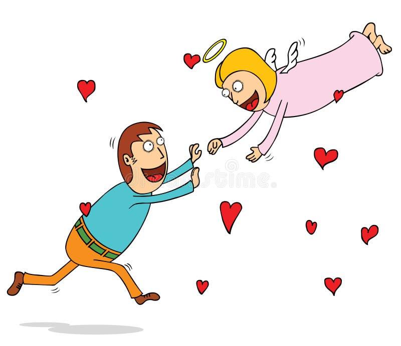 Вечная влюбленность иллюстрация вектора