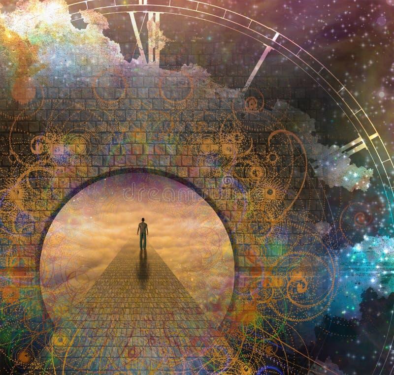 Вечное путешествие иллюстрация вектора