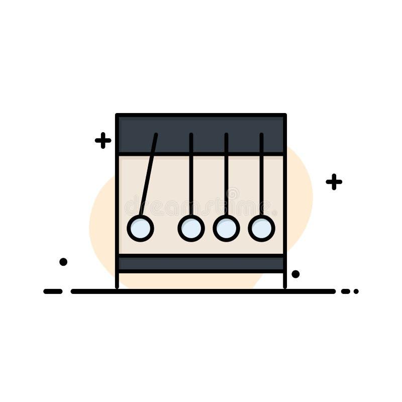 Вечный, движение, медицинское, линия дела медицины плоская заполнил шаблон знамени вектора значка иллюстрация вектора
