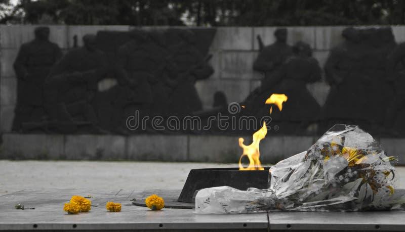 Вечный памятник пламени стоковые изображения