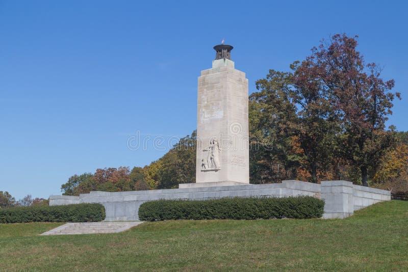Вечный светлый мемориал мира в Gettysburg, PA стоковое изображение rf