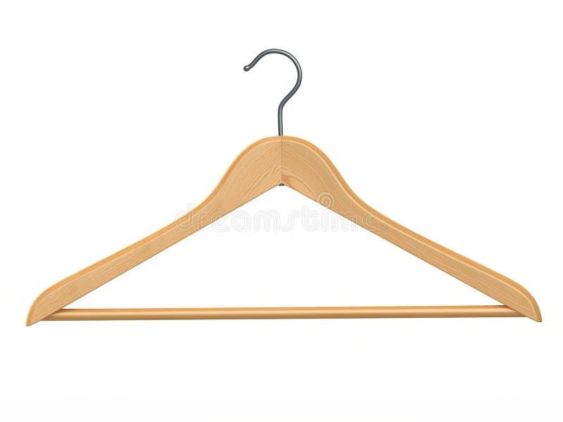 Вешалка одежд на предпосылке изолированной белизной. иллюстрация вектора