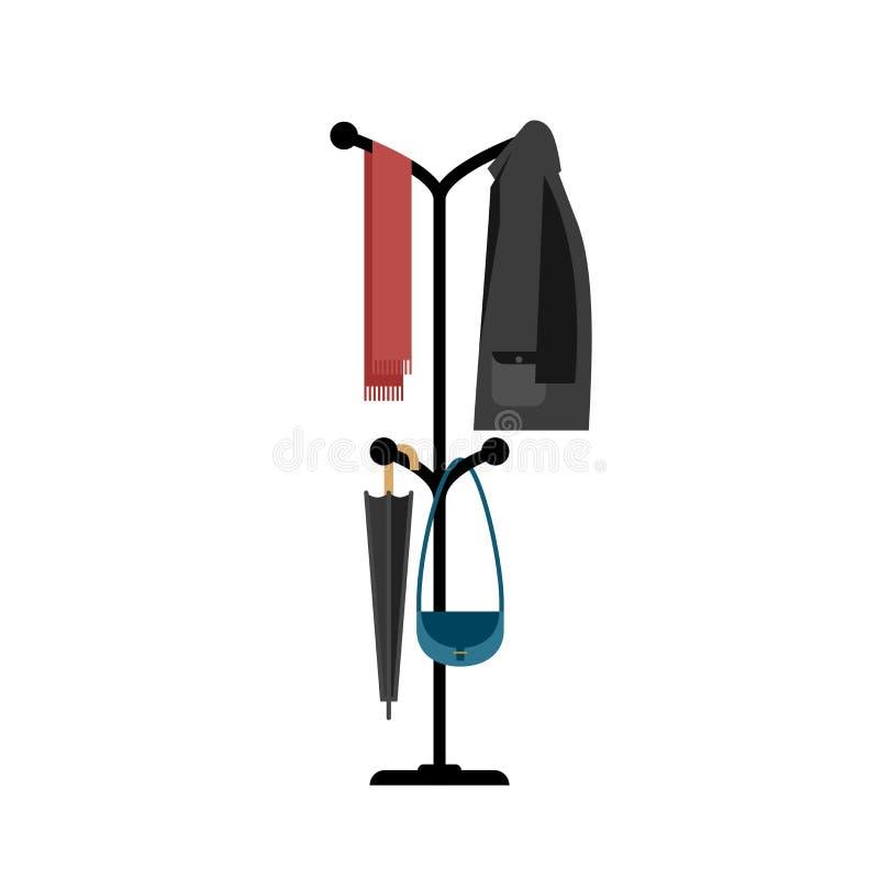 Вешалка одежд с курткой бесплатная иллюстрация