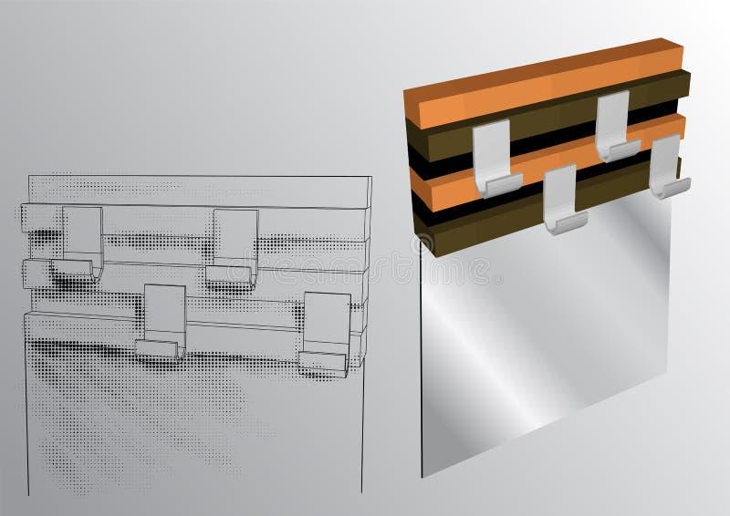 Вешалка одежд иллюстрация вектора