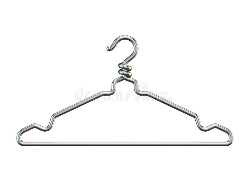 Вешалка одежд 3D провода бесплатная иллюстрация