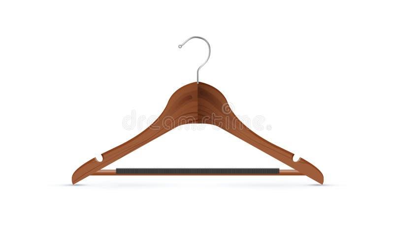 вешалка пальто деревянная иллюстрация вектора