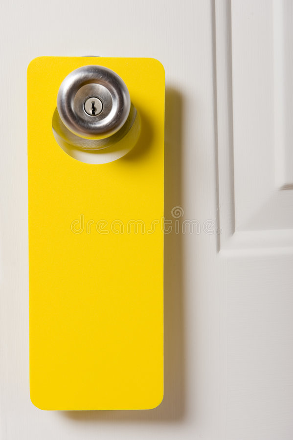 вешалка пустой двери стоковое изображение rf