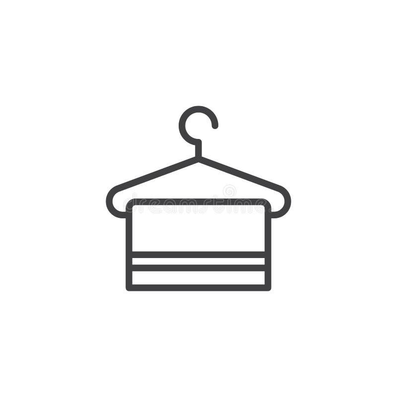 Вешалка с значком плана полотенца иллюстрация штока