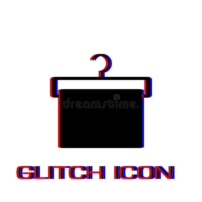 Вешалка с квартирой значка полотенца бесплатная иллюстрация