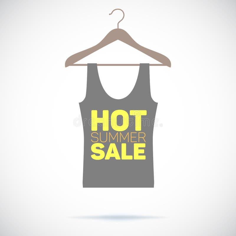 Вешалка, горячий плакат продажи лета иллюстрация вектора