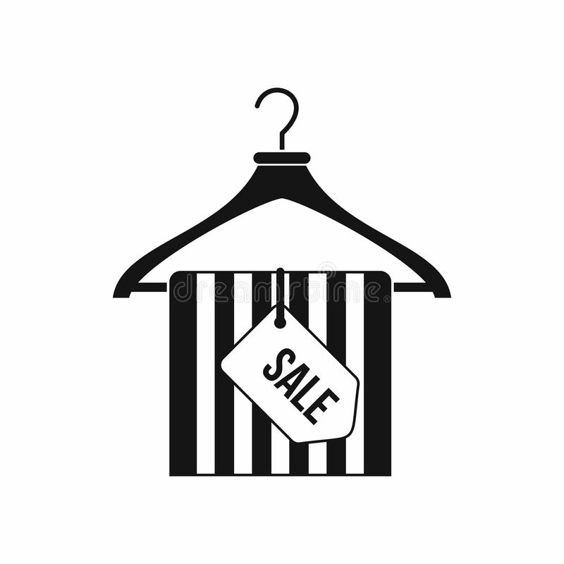 Вешалка с значком бирки продажи, простым стилем иллюстрация штока