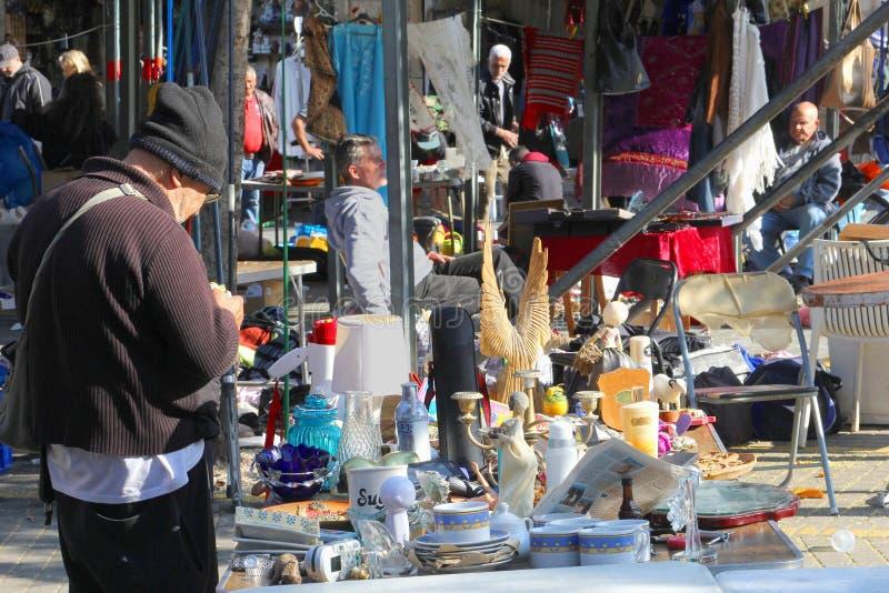 Вещество старая Яффа блошиного рынка, Тель-Авив стоковое фото rf