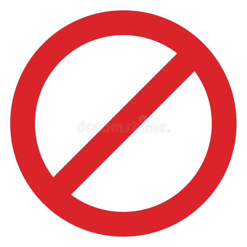 вещи знака ограничения красные и белые forbiding иллюстрация вектора
