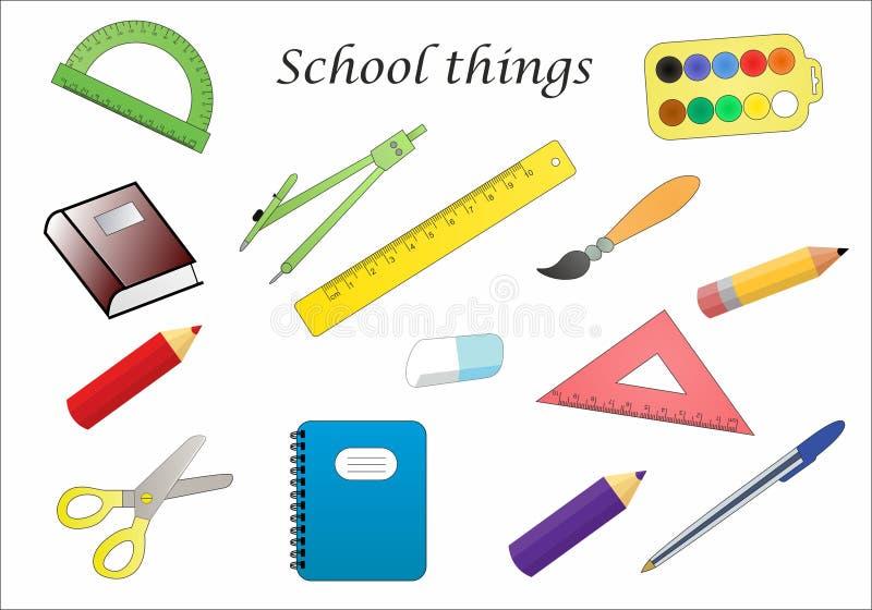 Вещи школы стоковое изображение