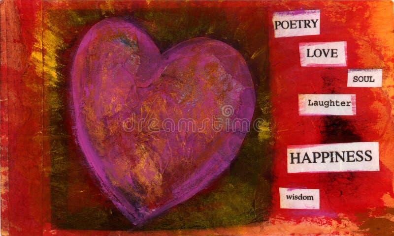 вещи 1 сердца иллюстрация штока