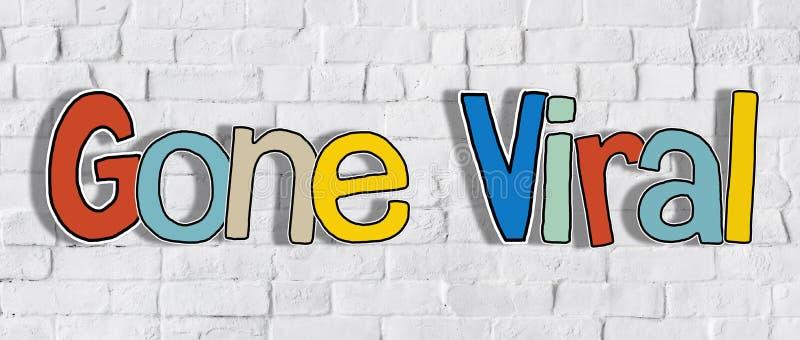 Веденное слово вирусный на кирпичной стене в задней концепции стоковое фото rf