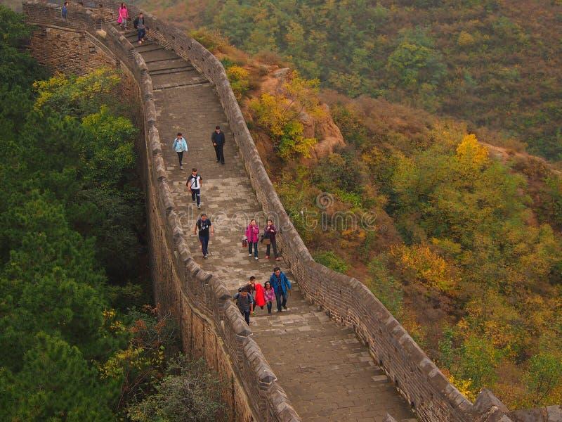 Великая Китайская Стена Китая в осени стоковые изображения rf