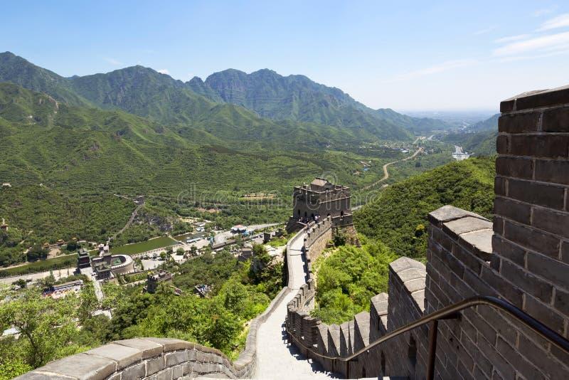 Великая Китайская Стена Китая стоковое фото rf