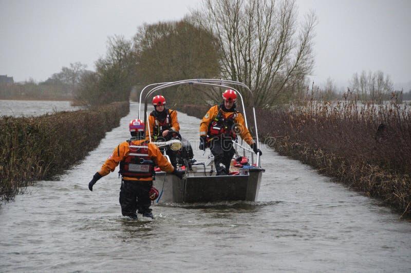 Великобритания 2014 затопляет Muchelney стоковая фотография rf