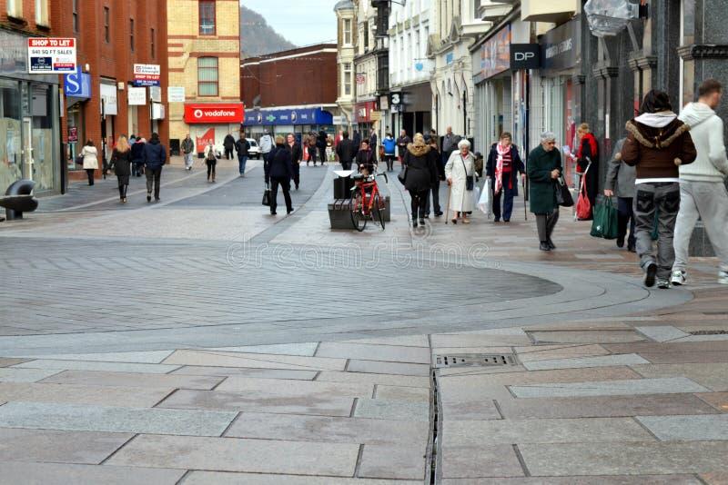 Великобританская торговая улица стоковая фотография rf