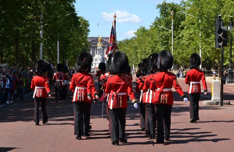 Великобританский королевский Букингемский дворец предохранителей стоковые фотографии rf