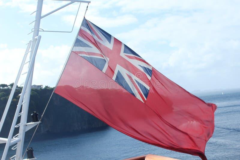 Великобританский флаг ветрила стоковое фото rf