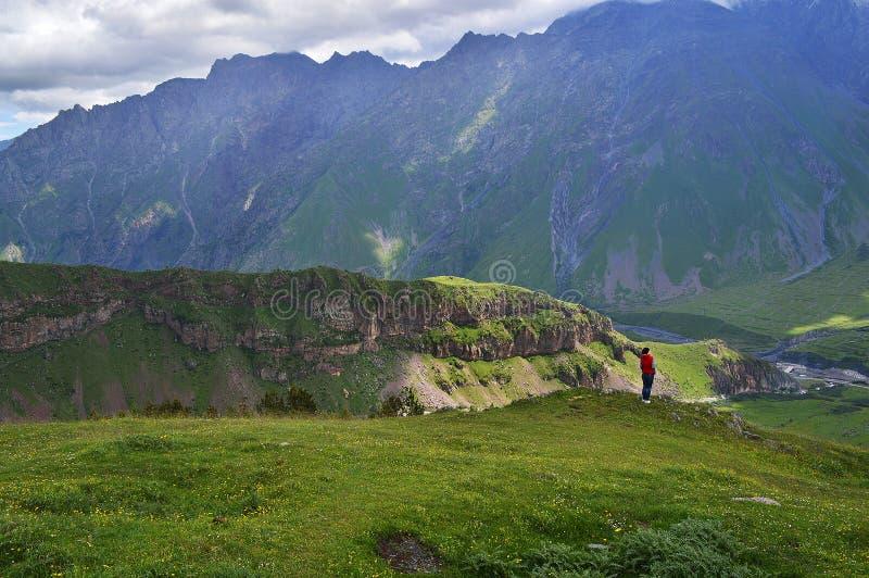 великолепие гор Кавказа стоковое изображение