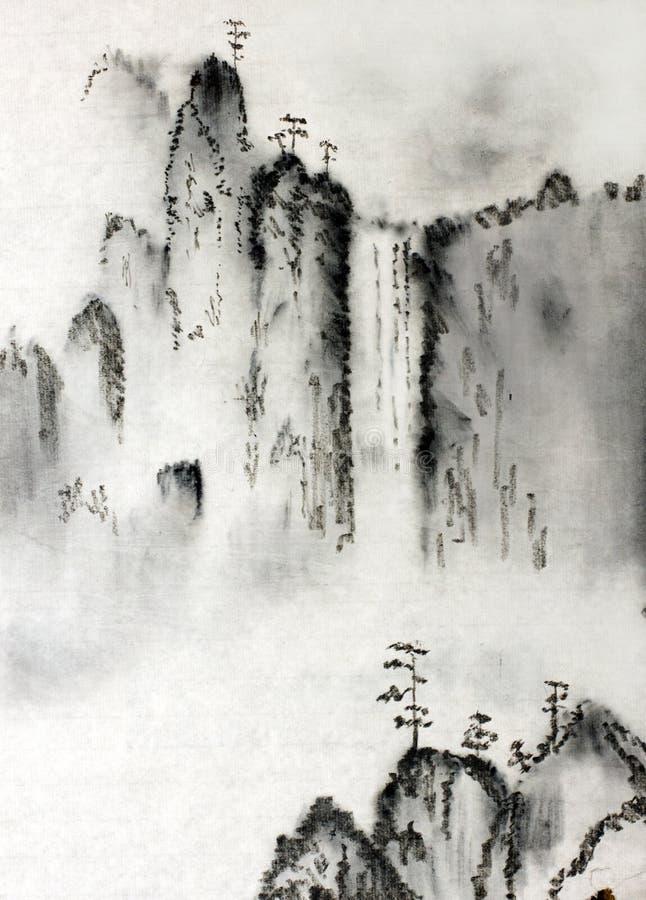 величественные горы иллюстрация штока