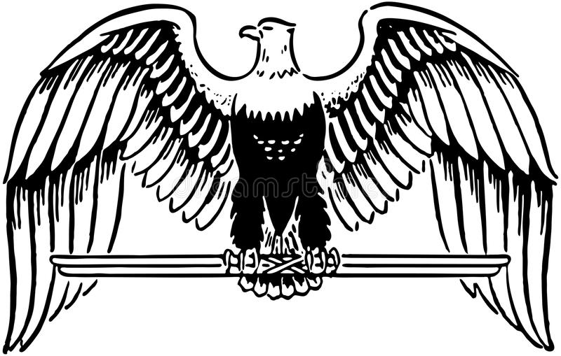 Величественный орел иллюстрация штока