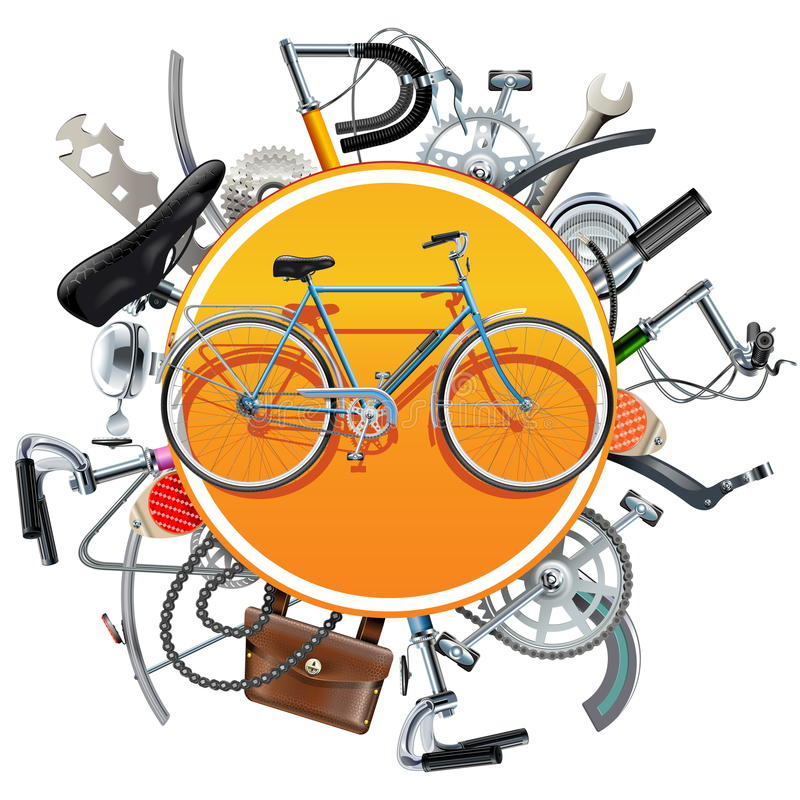 Велосипед вектора щадит концепцию с велосипедом бесплатная иллюстрация