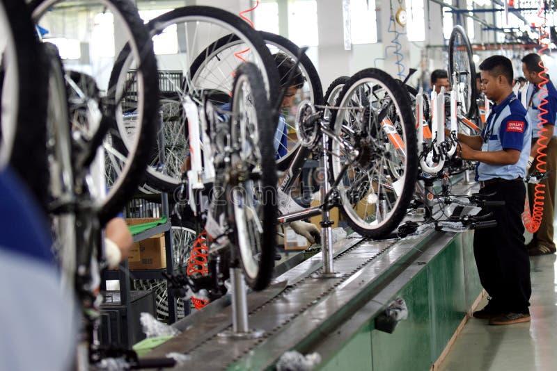 Велосипед велосипеда собрания от Индонезии стоковое фото rf