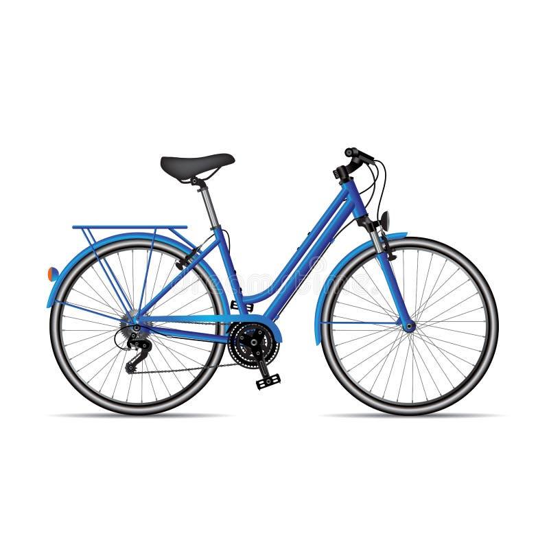 Велосипед женщин иллюстрация вектора