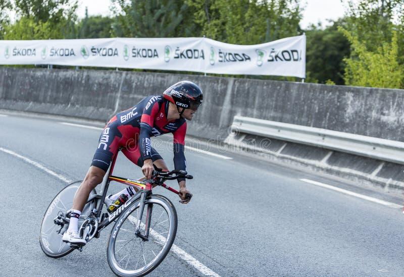 Велосипедист Грег Van Avermaet - Тур-де-Франс 2014 стоковые фото