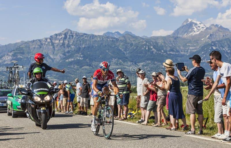 Велосипедист Джонни Hoogerland стоковое изображение