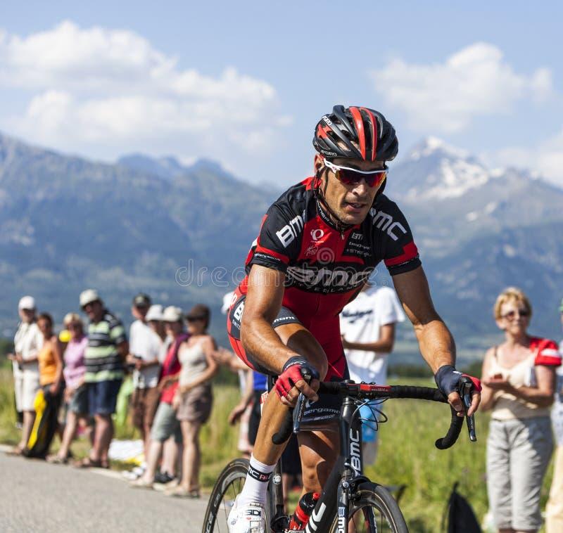 Велосипедист Манюэль Quinziato стоковое изображение