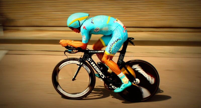 Велосипедист пробы времени стоковые фото