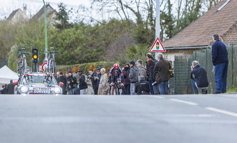 Велосипедист Рой Curvers - Париж-славное 2016 стоковое фото