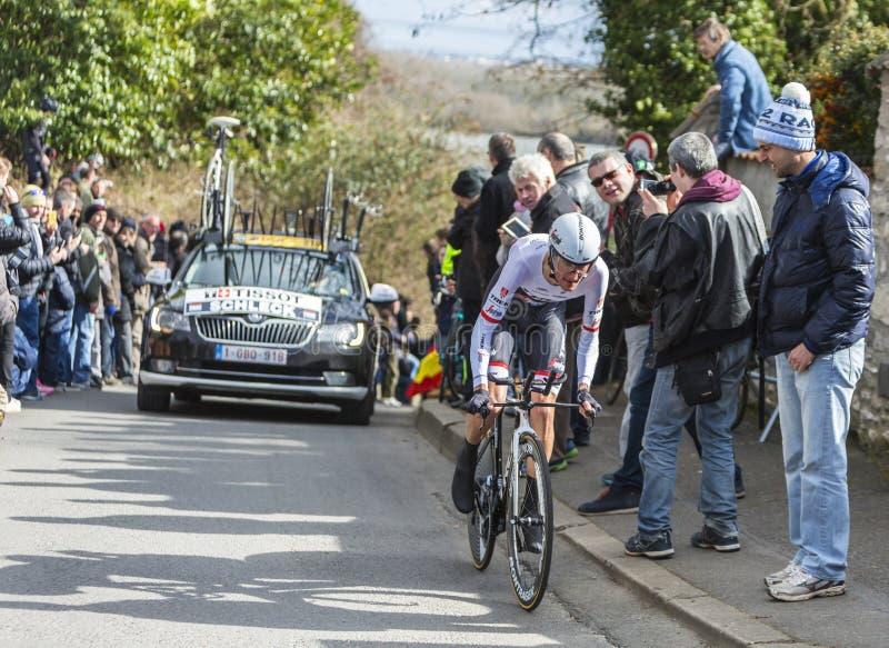 Велосипедист Франк Schleck - Париж-славное 2016 стоковое фото