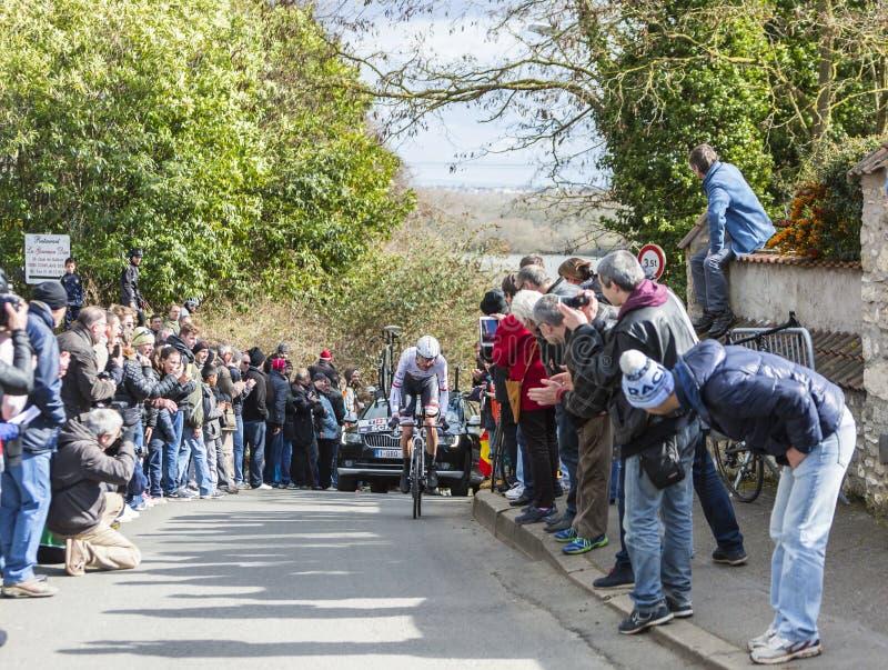Велосипедист Франк Schleck - Париж-славное 2016 стоковые изображения rf