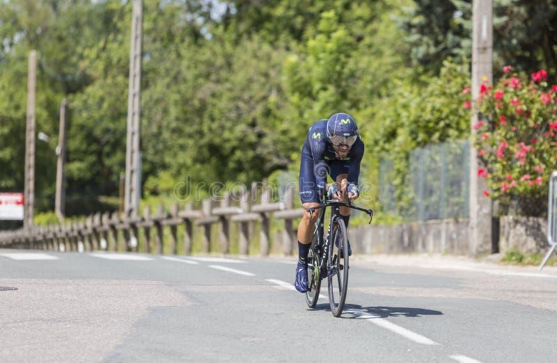 Велосипедист Alejandro Valverde - Критерий du Dauphine 2017 стоковые фотографии rf